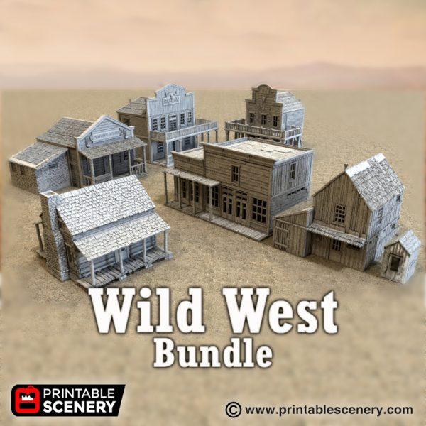 Wild West Bundle - Printable Scenery