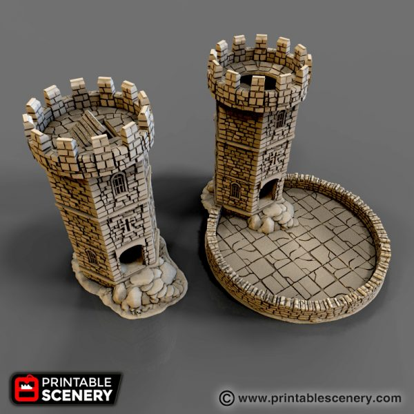 Agile image within 3d printable dice tower