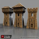 Small Square Castle Tower Printable
