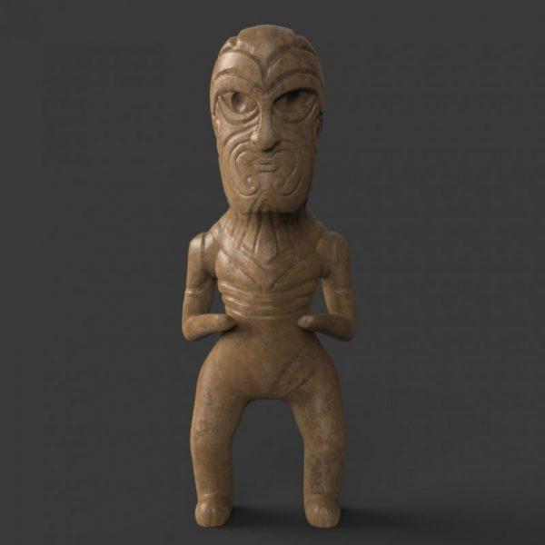 Maori Pa Woodencarvev01