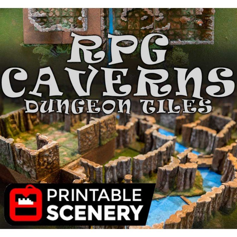 Dungeon Caverns 31 seperate dungeon tiles