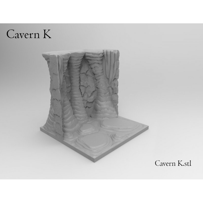 3d Printable Dungeon Caverns 34 Pieces
