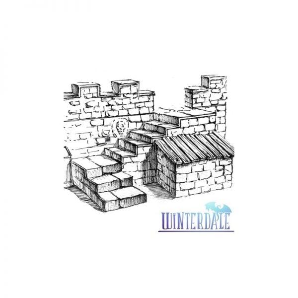 Winterdale Castle Side Stairs 1.0 -MODELING-