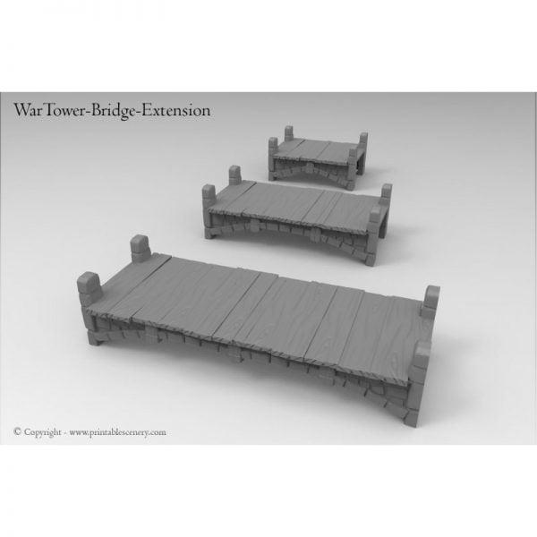 Wartower stairs and cross bridge