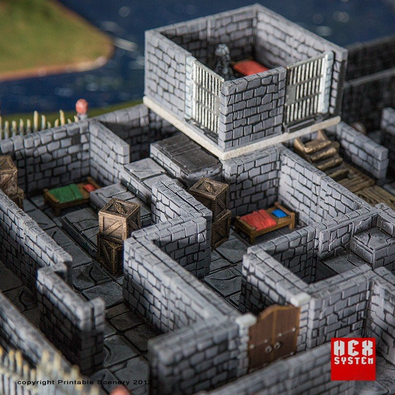 graphic relating to 3d Printable Dungeon Tiles identified as Dungeon Tiles Foundation Established