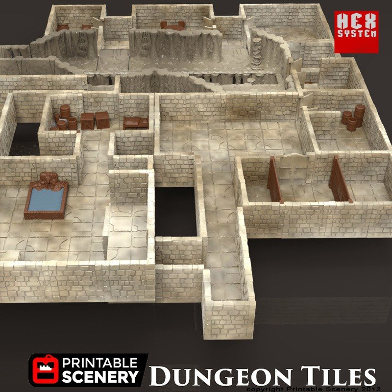 Irresistible image with regard to 3d printable dungeon tiles