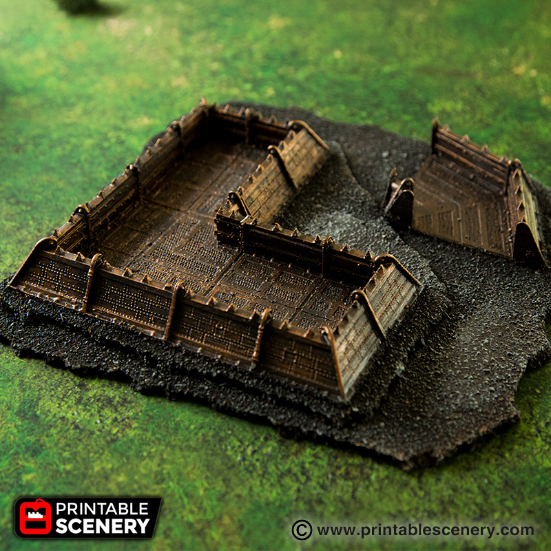 Gothic Sci Fi Trenches Printable Scenery