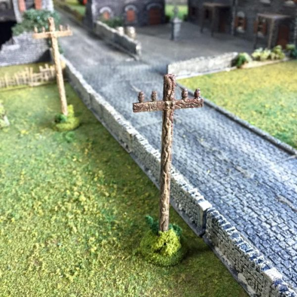 Roads and telegraph poles
