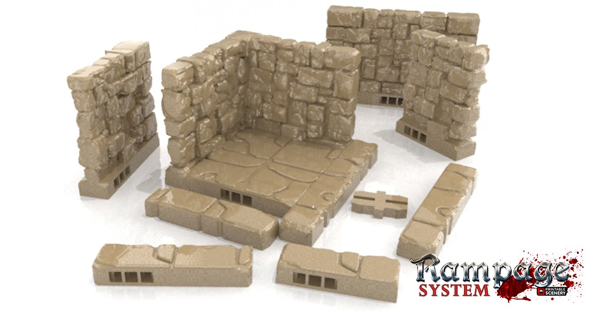 Rampage Base Pack - Printable Scenery