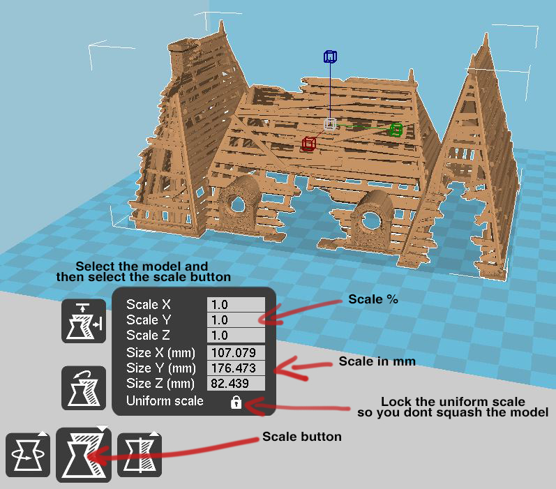 Scaling Printable Scenery Models - Printable Scenery