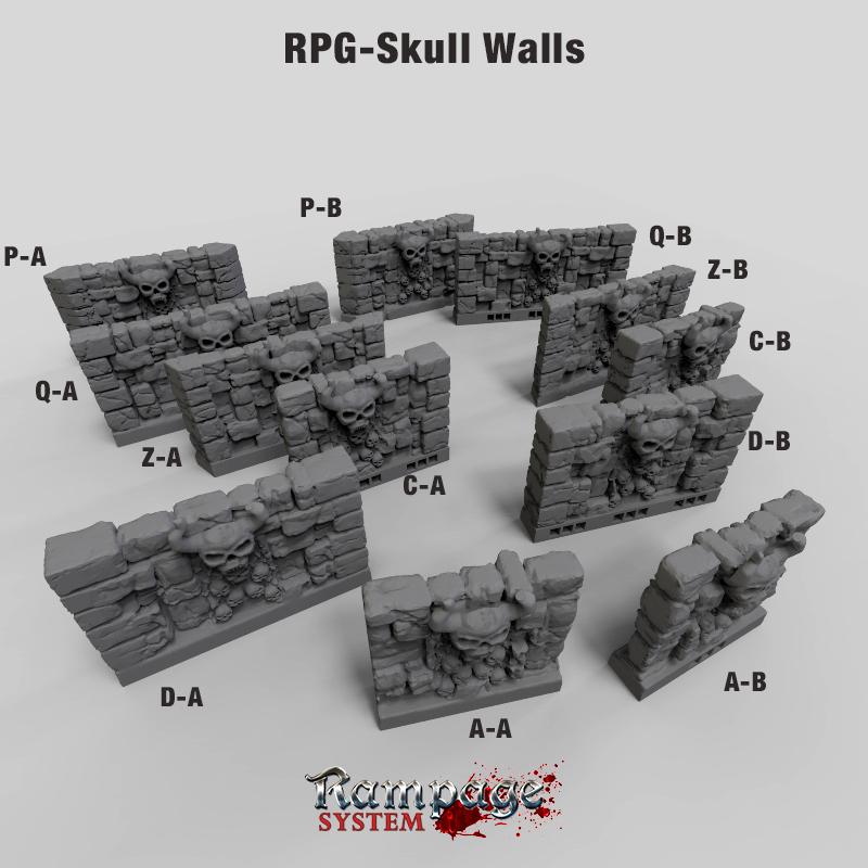 RPG Skull Wall