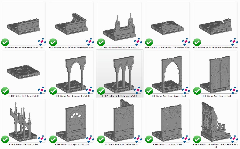 OpenLOCK Gothic Ruins - Printable Scenery
