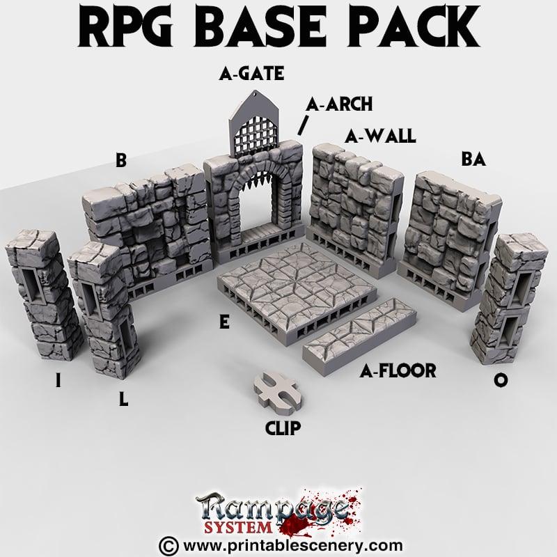 Rampage Base Pack - Printable Scenery