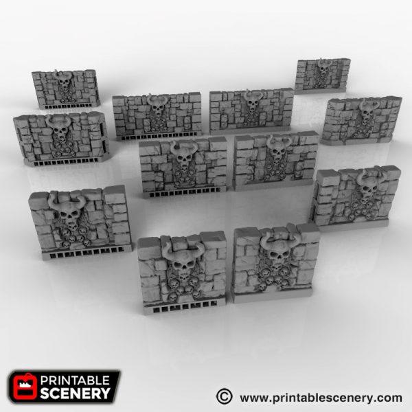 Skull Walls Printable