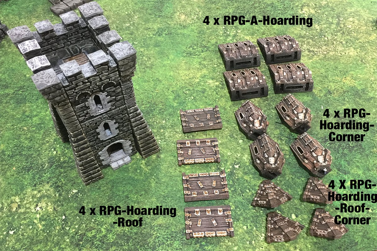 3d printed openlock castle hoarding assembly