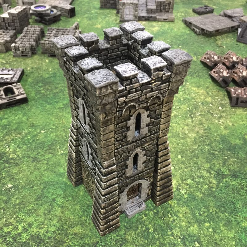 3d printed openlock Rampage tower