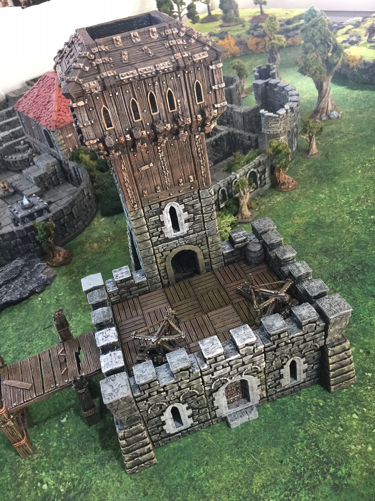 3d printed openlock castle tower