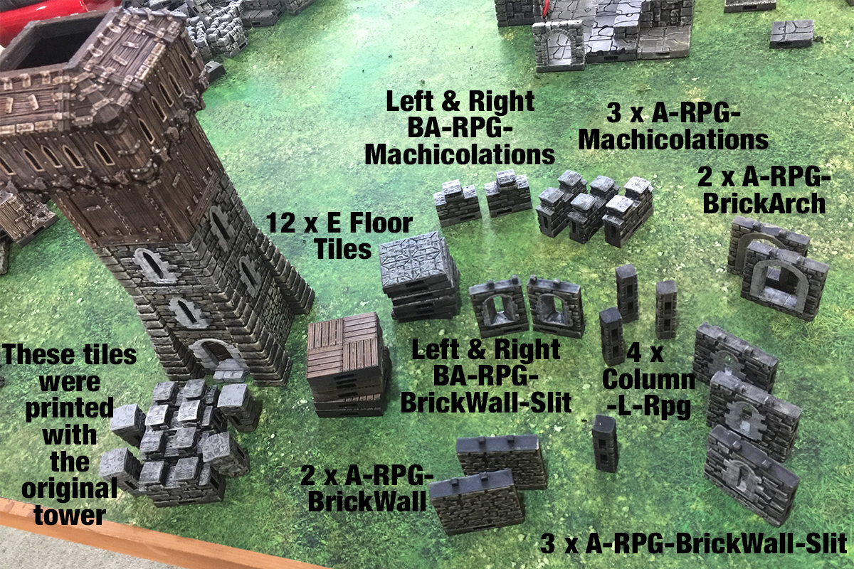3d printed openlock tiles castle parts required