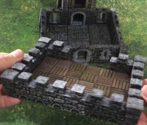 3d printed openlock castle tower assembly