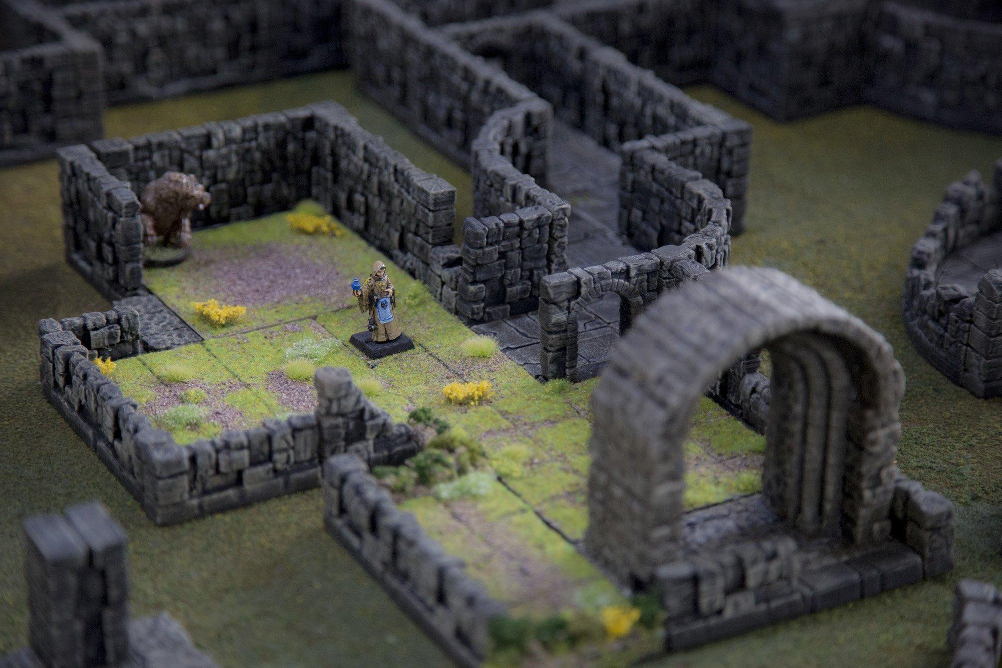 3d printed openlock tiles display