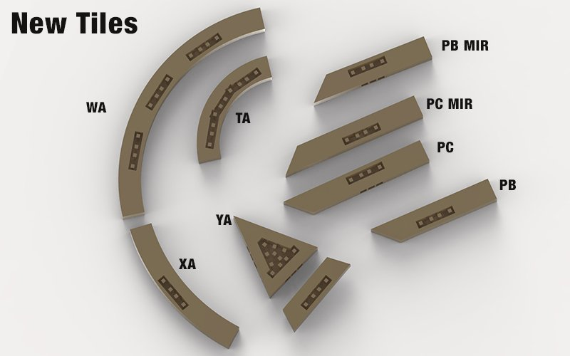 Openlock 3d printed tiles