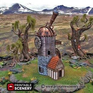 Winterdale Observatory Age of Sigmar Warhammer Frostgrave fantasy 3dprint