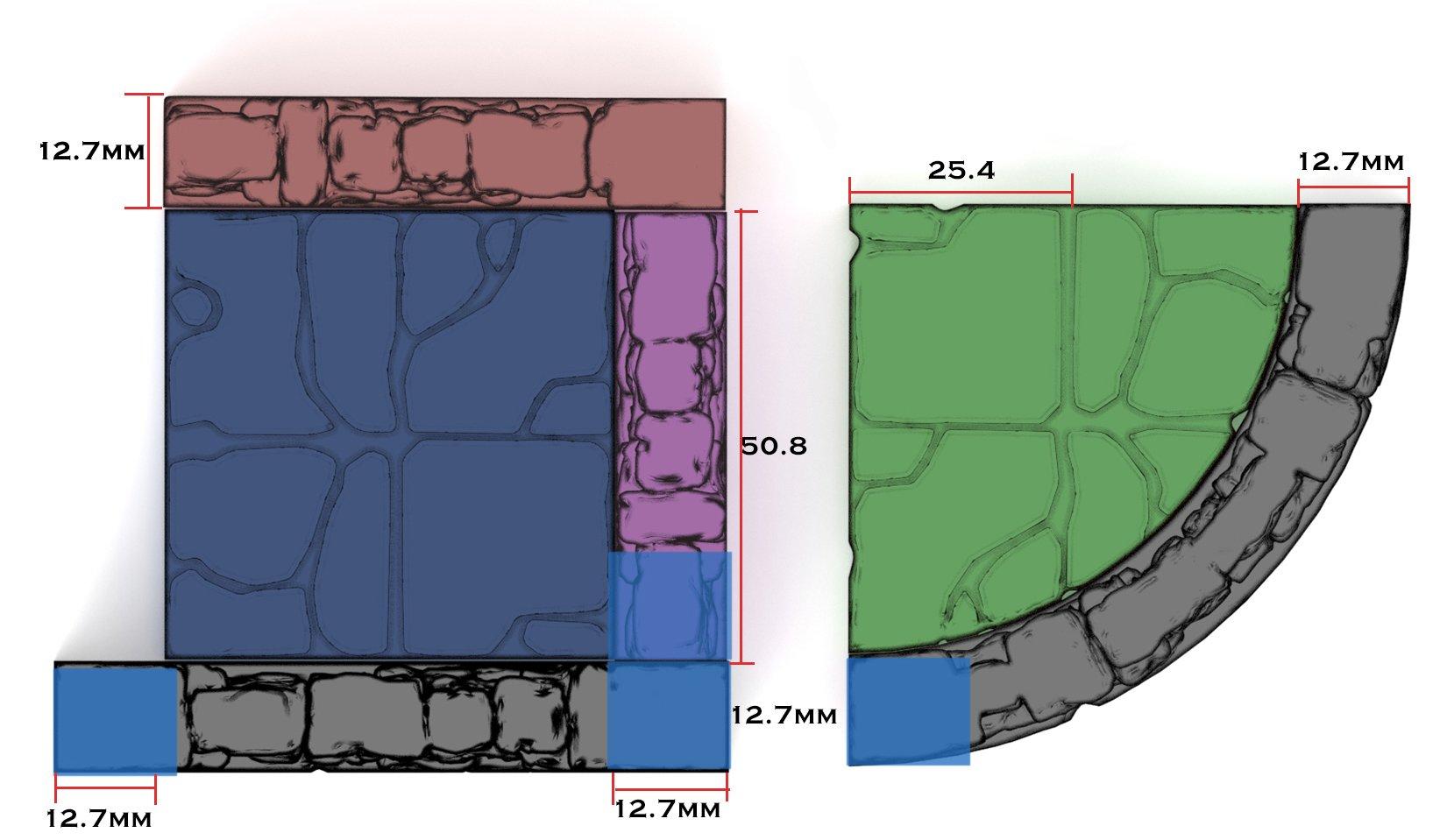 3d printed openlock postion tiles diagram
