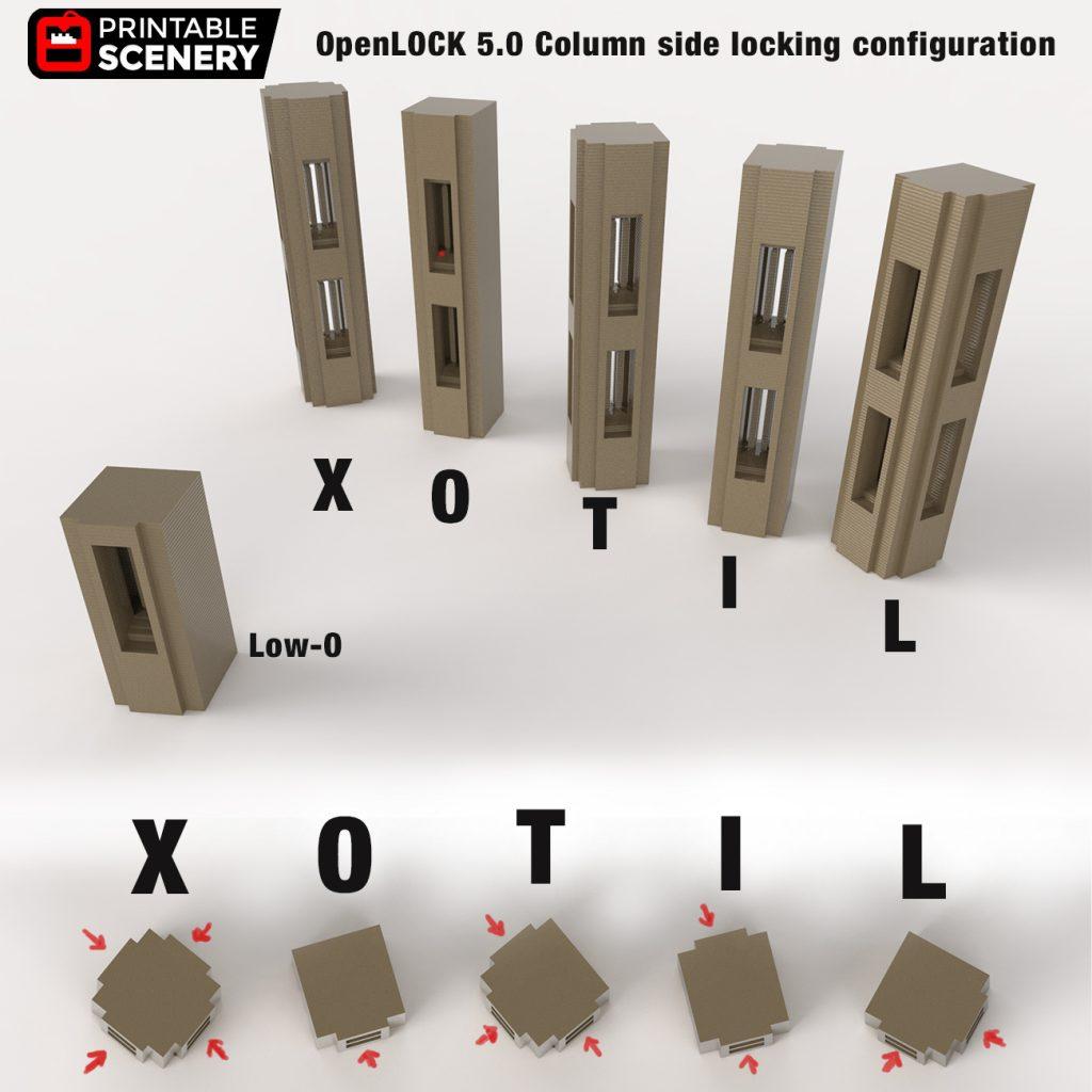 3d printed openlock columns