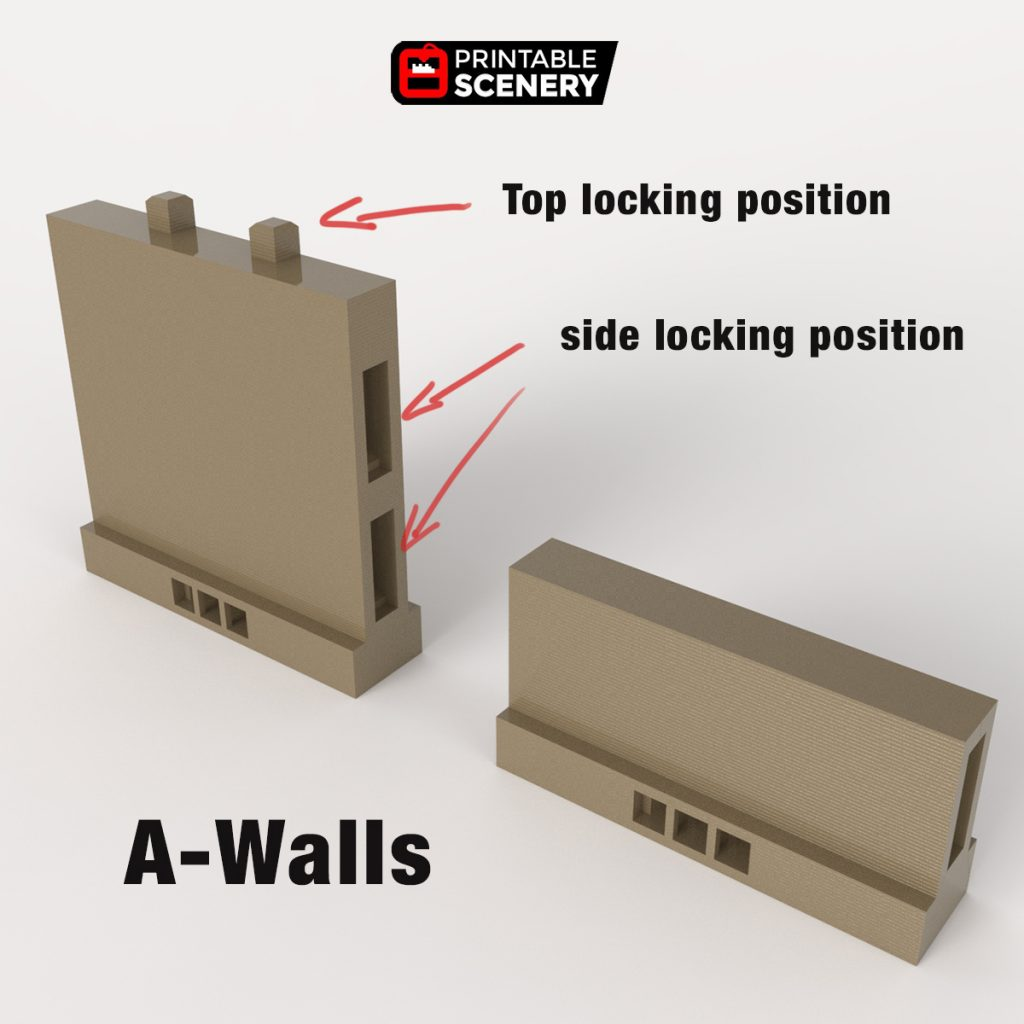 Openlock 3d printed A wall tiles