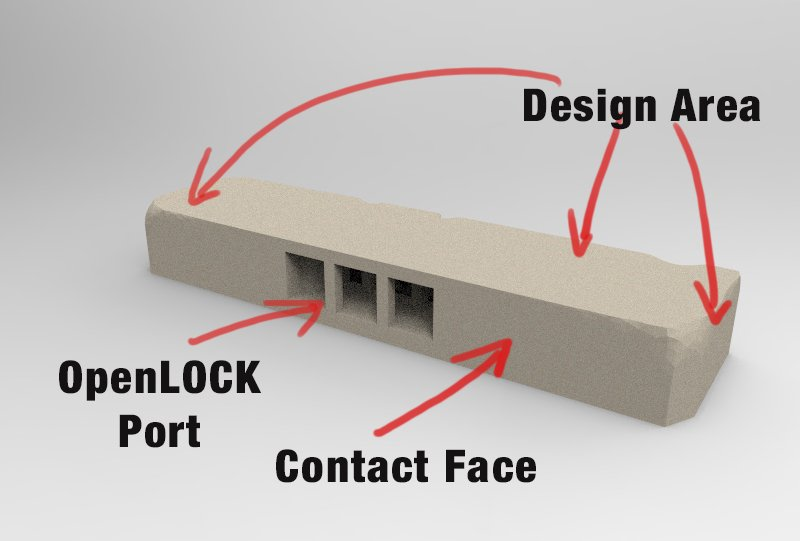 3d printed openlock tile