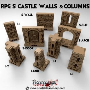 S Castle Walls And Columns