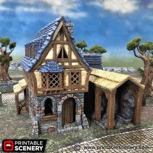 Winterdale Tavern Frostgrave Mordheim Age of Sigmar Warhammer dungeons dragons pathfinder 3dprint