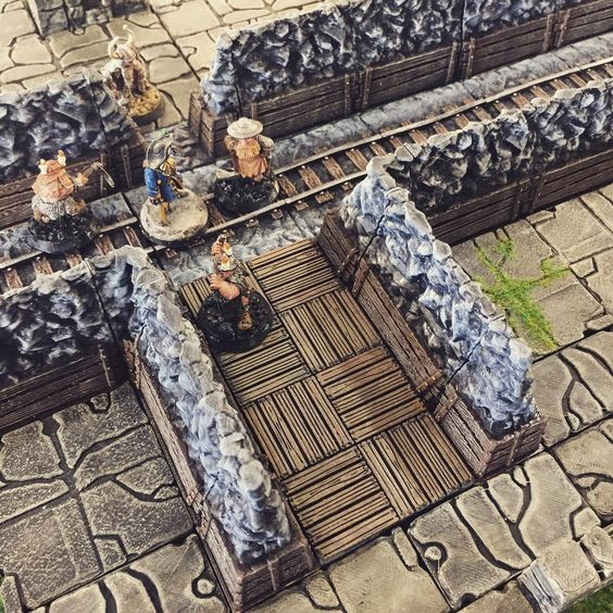 3D printed mines openlock tiles
