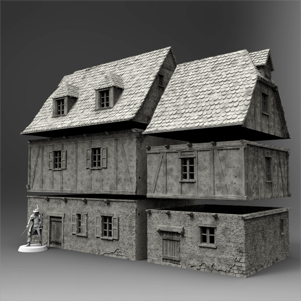 photo about Printable House referred to as Medieval Household