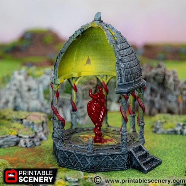 Daemon Dais ruins 3d printed