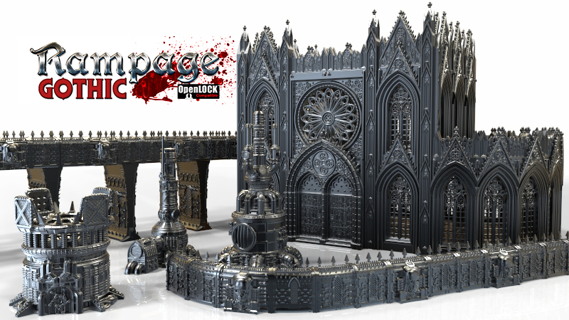 Sci Fi gothic Terrain for wargames