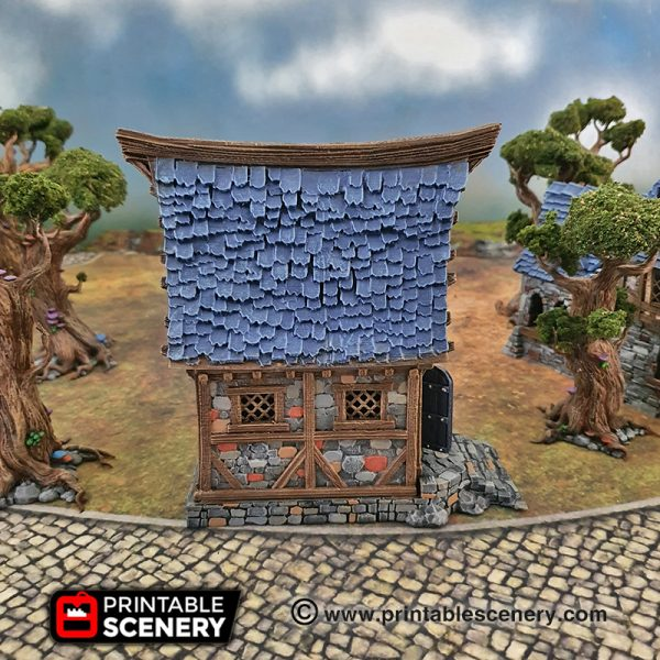 3d Printable Age Of Sigmar Dungeons and dragons small cottage winterdale