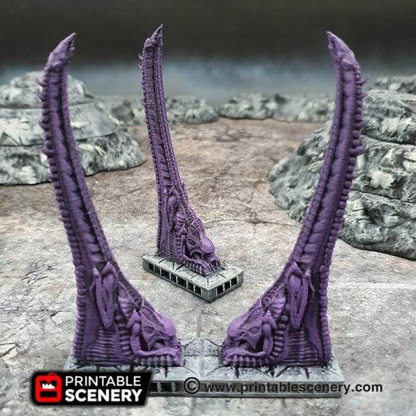 3D printed, alien statue, alien portal, openLOCK