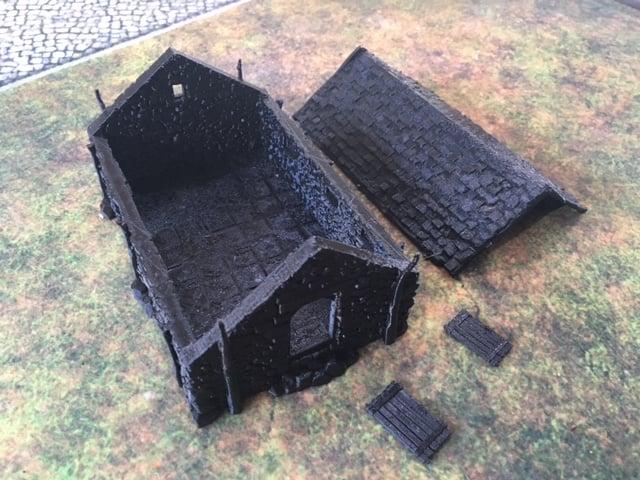 3D printed stone barn