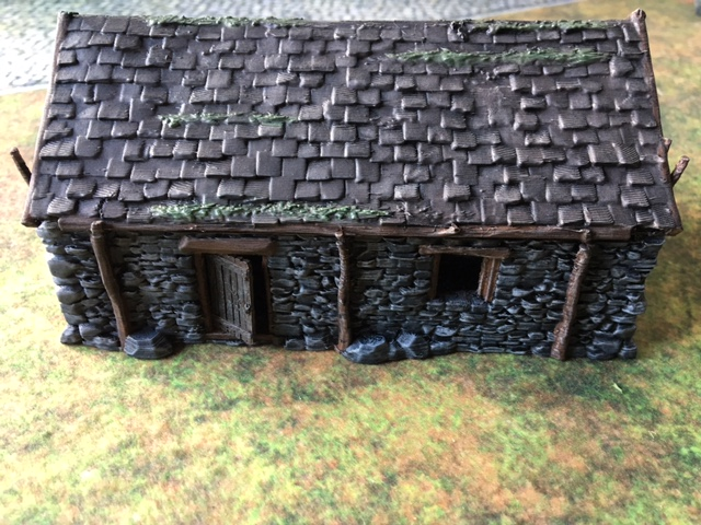 Painted 3d printed Stone Barn