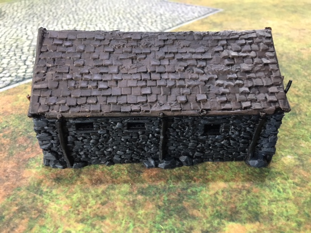 Dry brushed 3d printed Stone Barn