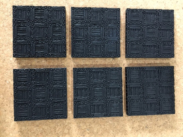 6 unpainted Wooden floor tiles