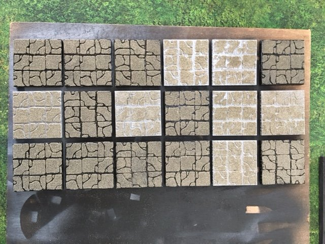Sand on Rampage tiles