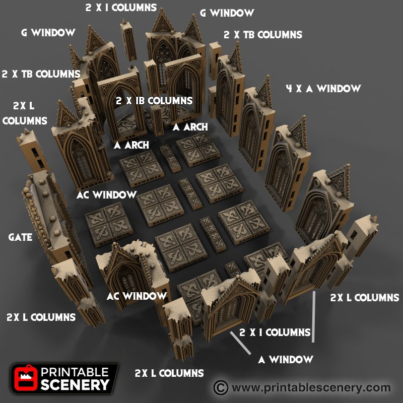 picture relating to Printable Scenery referred to as Cathedral Partitions