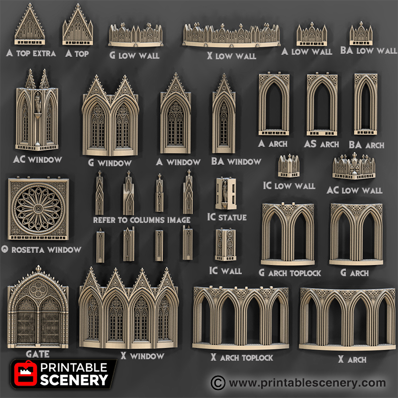 Cathedral Walls Printable Scenery
