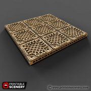 Gothic Sc-Fi floors printable tiles