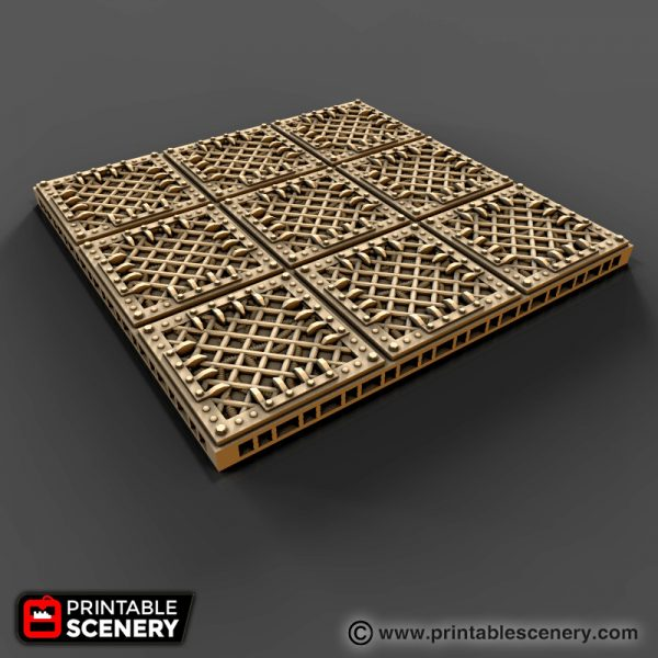 Gothic Sc-Fi floors printable tiles