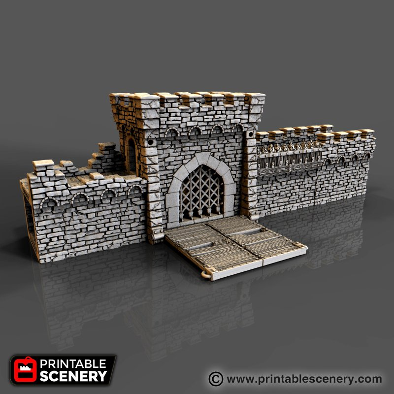 Rampage Pre-Configured Castle Gate and Walls