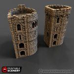 Rampage Pre-configured Castle Corner Tower Printable