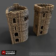 Rampage Pre-configured Castle Corner Tower Printable